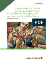 Posicionamiento Sobre La Justicia de Género y La Equidad de Género en El Ámbito de La Cooperación Internacional de La Iglesia Sueca