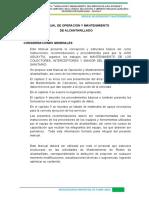 MANUAL O&M DE ALCANTARILLADO
