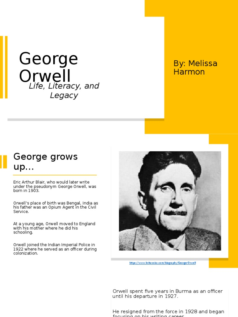 Free essay - george orwell biography help with my law bibliography