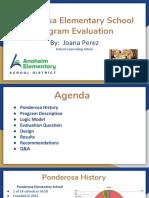progam evaluation report