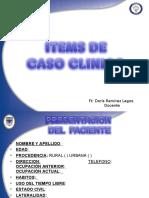 Items de caso clinico en adultos. Doris