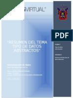 U1A2 Resumen del tema tipo de datos abstractos
