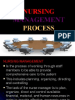 NURSING Management Process