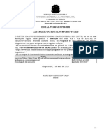 EDITAL Nº 268 GR UFFS 2020 - ALTERAÇÃO DO EDITAL Nº 88GRUFFS2020