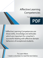 Affective Learning Competencies