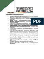 Organización del Gobierno Boliviano
