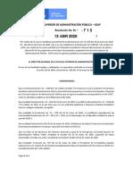 RESOL 713 DE 13-04-2020 MODIFICA CALENDARIO ACADÉMICO GENERAL ESAP 2020