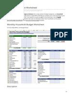 vertex42.com-Household Budget Worksheet