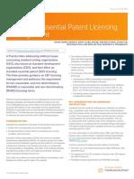 Standard-Essential Patent Licensing Management (W-018-5967)