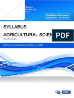 csec agricultural science syllabus   with specimen     papers