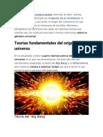 PDF Teorias sobre el origen del universo. SEXTO GRADO SOCIALES