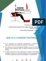 capacitacione higiene postural