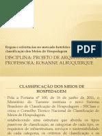 Clçassificação dos meios de hospedagem no Brasil