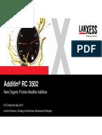 New Organic Friction Modifier Additive