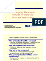 Contingency Planning & Simulation Exercises Practical Applications