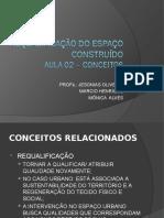 AULA 02A - REQUALIFICAÇÃO DO ESPAÇO CONSTRUÍDO