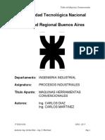 TALLER DE MAQUINAS   CONVENCIONALES. CUADERNILLO