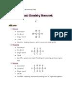 organic chemistry homework 1
