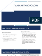 Sociology and Anthropology Introduction