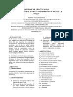 INFORME N°1 SUELOS (PROPIEDADES ÍNDICE Y GRAVEDAD ESPECÍFICA DE ROCA Y SUELO)