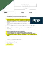 Evaluación conocimientos generales brigada de emergencias Respuestas