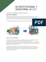 ANALISIS INSTITUCIONAL Y ORGANIZACIONAL