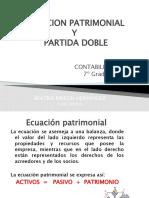2. ECUACION PATRIMONIAL Y PARTIDA DOBLE