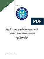 Performance Management week 2