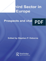 Stephe Osborne - The Third Sector in Europe_ Continuity and Change (Routledge Studies in the Management of Voluntary and Non-Profit Organizations) (2008)