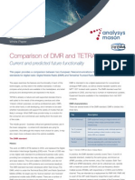 Comparison of DMR and TETRA Analysys Mason