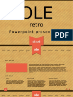 Ole - Retro Powerpoint Template