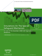 Simulations on the Special Safeguard Mechanism