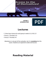 Section 1 - Introduction (Derivatives)