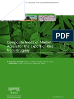 Composite Index of Market for the Export of Rice From Uruguay