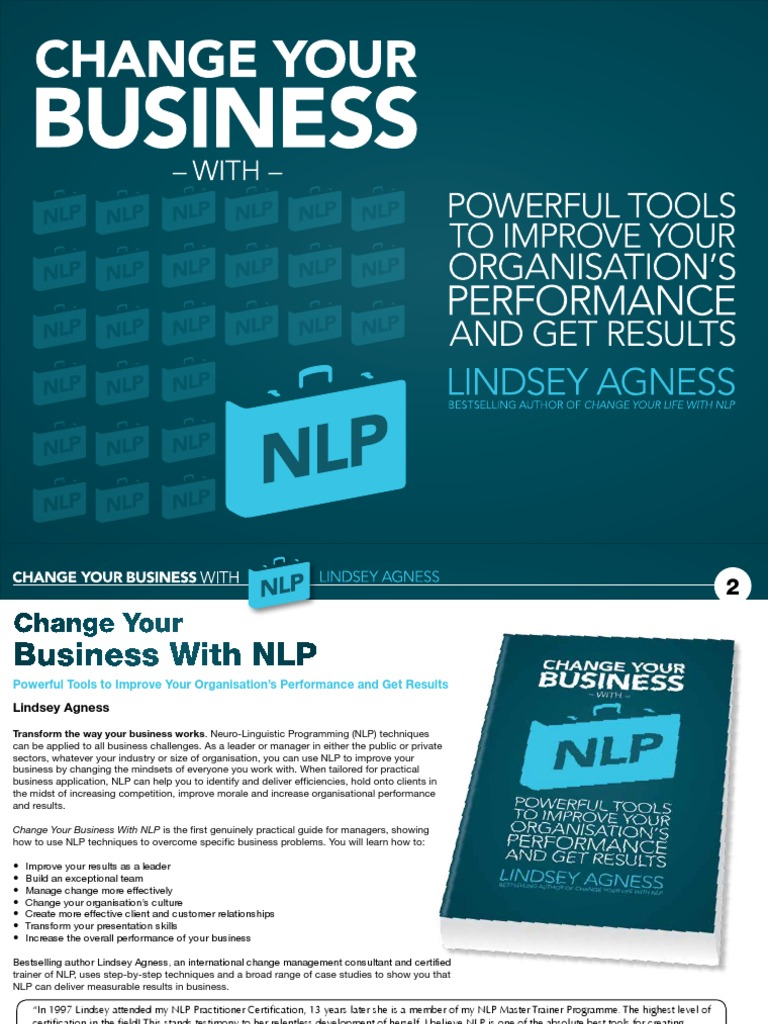 Change Your Business with NLP: Powerful Tools to Improve ...