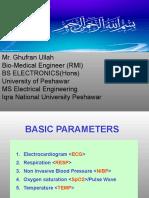 Basic parameters of cardiac monitor