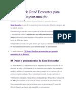85 frases René Descartes