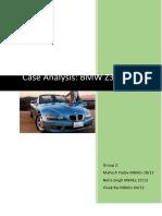 Case Analysis_BMW Z3 Roadster_Group2