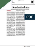 Erdis e Ateneo in cabina di regia - Il Corriere Adriatico del 19 aprile 2020