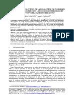 LES DIFFERENTES FONCTIONS DE LA RESOLUTION DE PROBLEMES