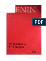 El socialismo y la guerra