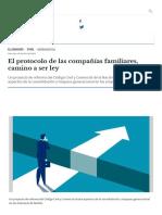 El protocolo de las compañías familiares, camino a ser ley _ Pyme _ El Cronista