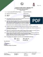 XTR ATEX Certificate 07ATEX1104X
