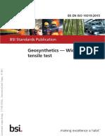 BS EN 10319 Geosynthetics