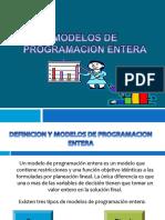 Semana 2 -Modelo de Programacion Entera
