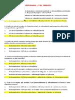 CUESTIONARIO LEY DE TRANSITO 2109-2020