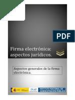 Aspectos generales de la firma electrónica
