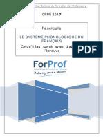 LE SYSTEME PHONOLOGIQUE DU FRANCAIS