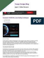 HTML Lists Styling Techniques - Noupe Design Blog