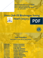 Lions Clubs International  District 325 A 1, Multiple District 325, Nepal  LY 2018-2019 Young Heart